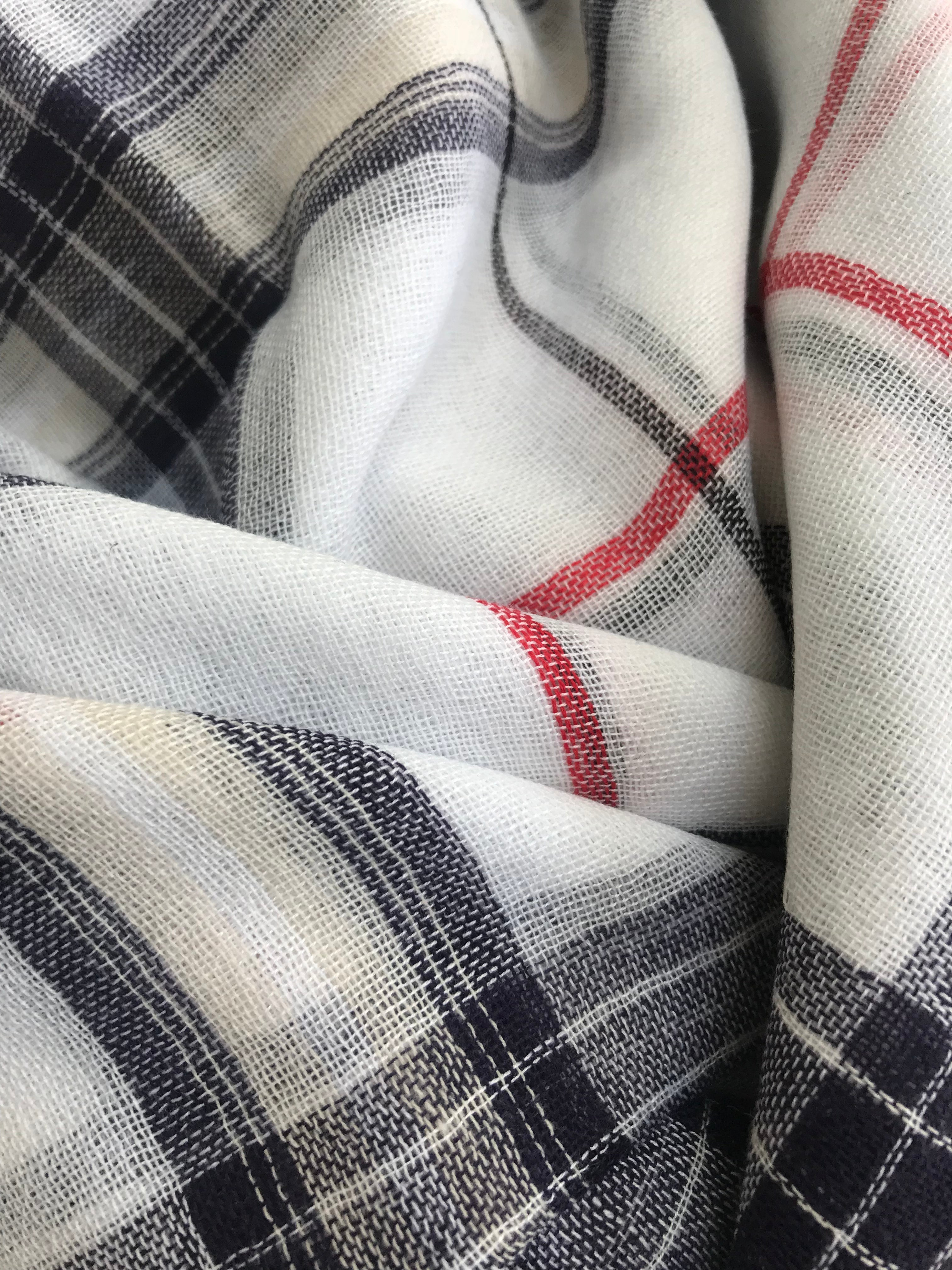 Wrap Me Up Lightweight Plaid Scarf (Several Colors)