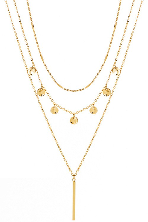 Isadora Layered Necklace (Gold or Silver)