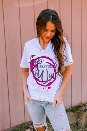 Sip Happens Wine Tee - LURE Boutique