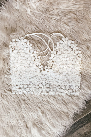 The Flower Petals Bralette - White - LURE Boutique