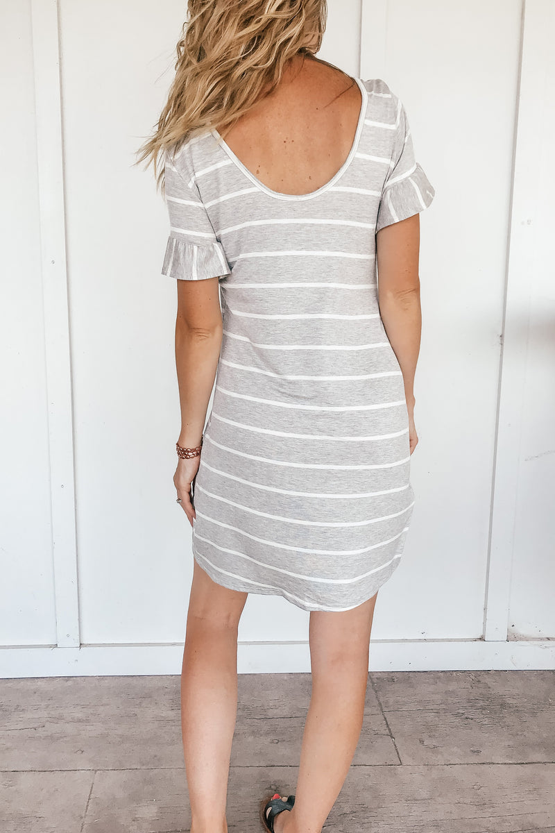 Stripes and Ruffles Dress - LURE Boutique