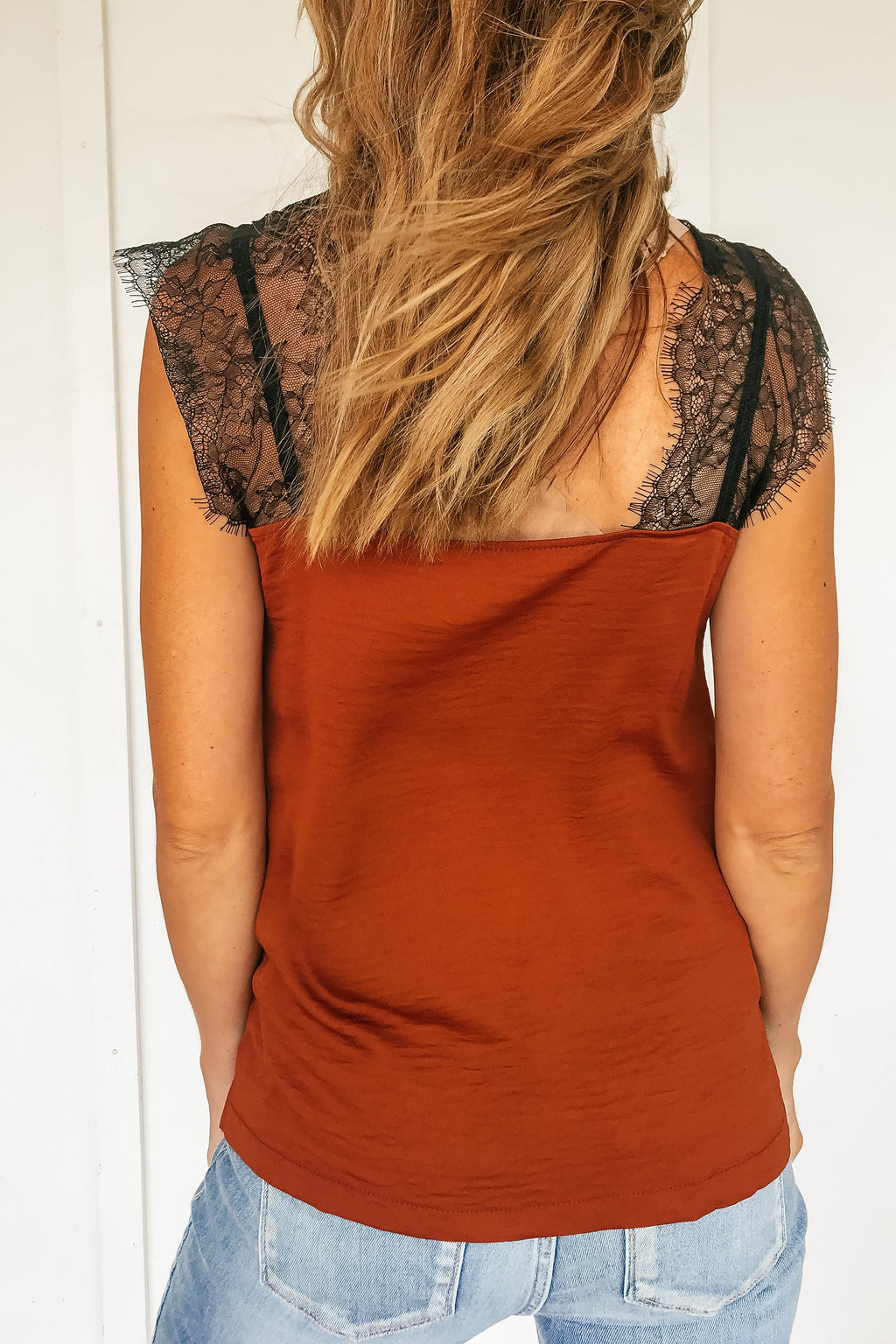 Tamara Lace Top in Rust