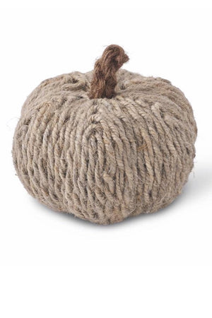 "5"" Jute Wrapped Pumpkin - LURE Boutique"