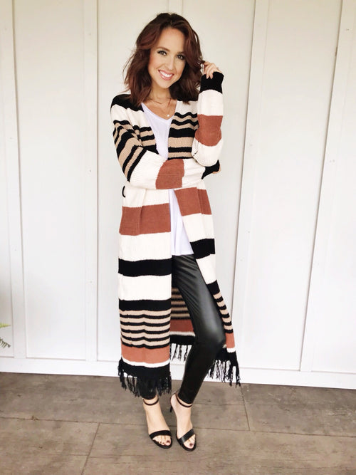 The Harvest Striped Duster Cardigan