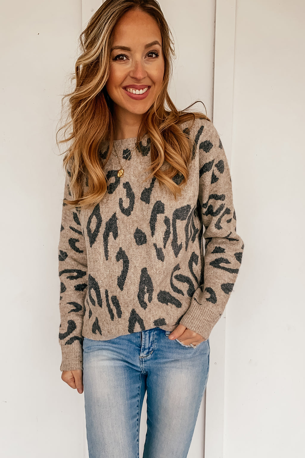 The Jordyn Leopard Sweater