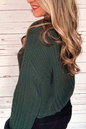 Forest V-Neck Knitted Sweater