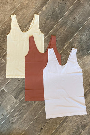 The Reversible Seamless Tank - LURE Boutique