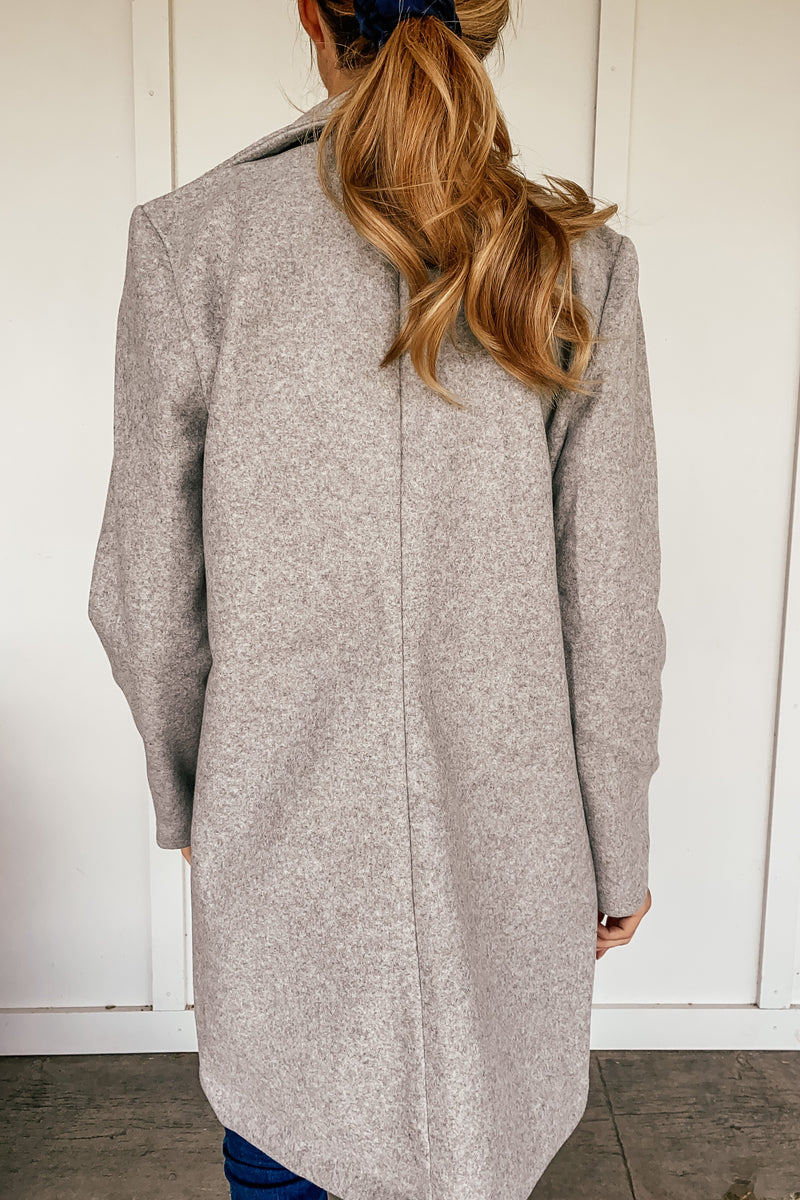 Ultra Cozy Trench Coat in Grey - LURE Boutique
