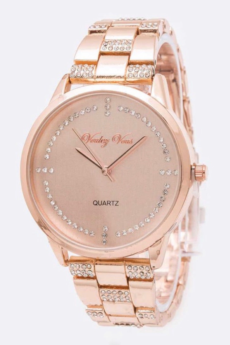 Crystals All Over Watch (3 Colors)