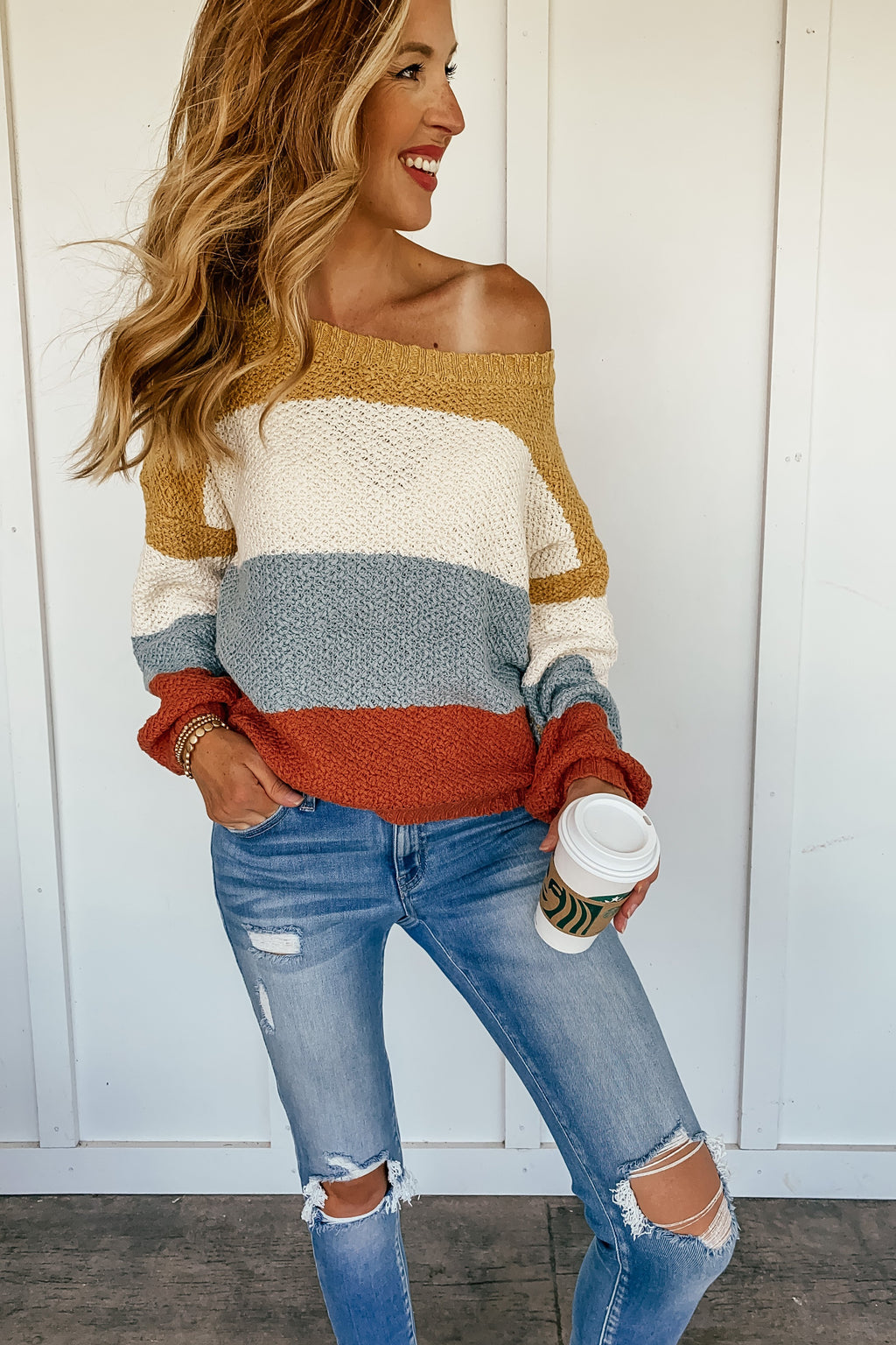 Addison Striped Pullover Sweater - LURE Boutique