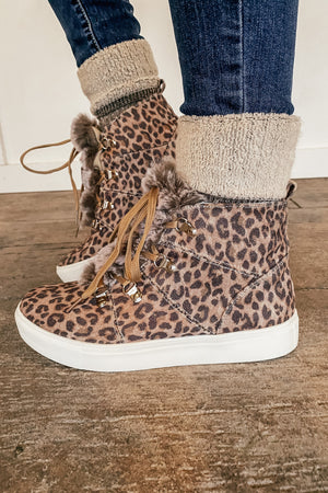 The Shayna Leopard Shoe Bootie
