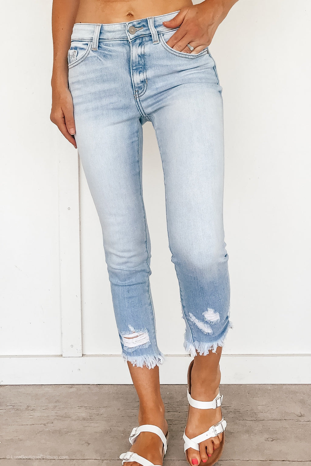 High Rise Light Washed KanCan Skinny Jeans