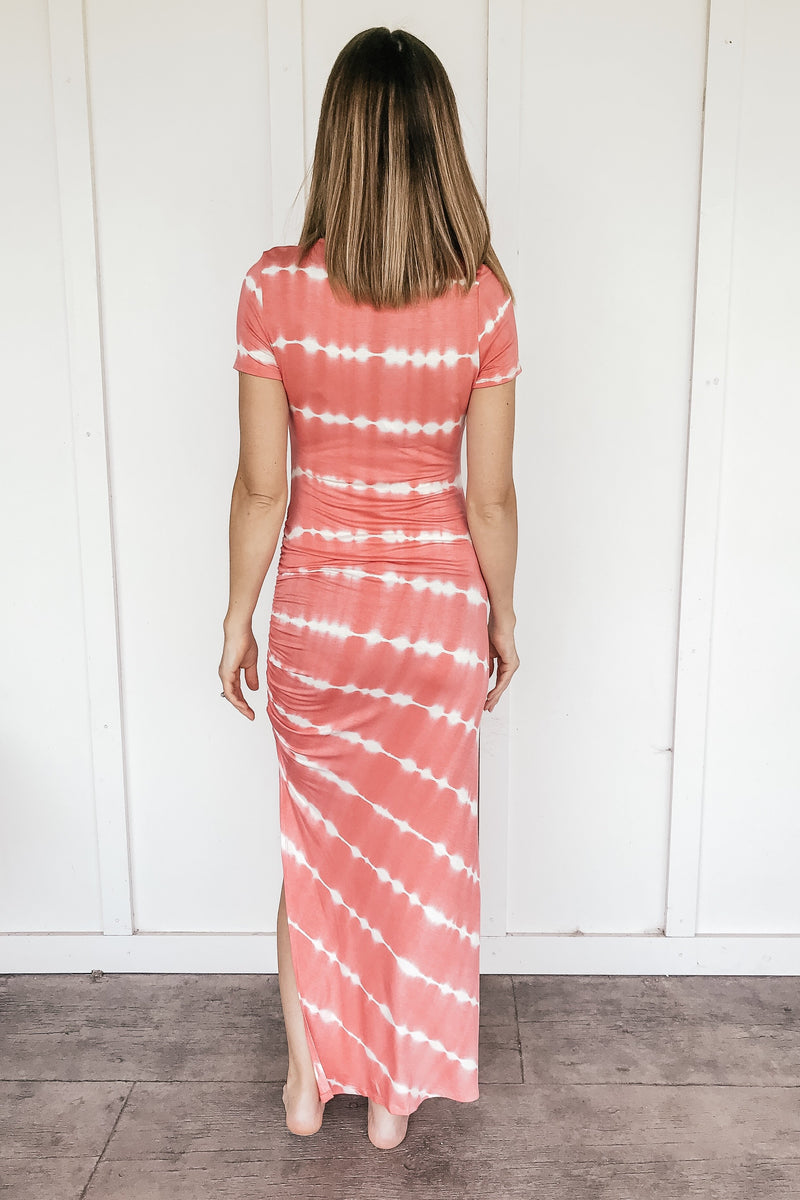 Boardwalk Tie Dye Maxi in Coral - LURE Boutique