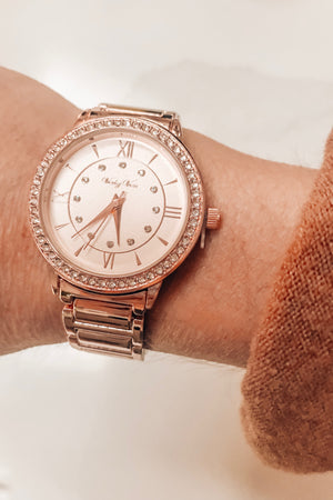 Time Flies Rose Gold Watch