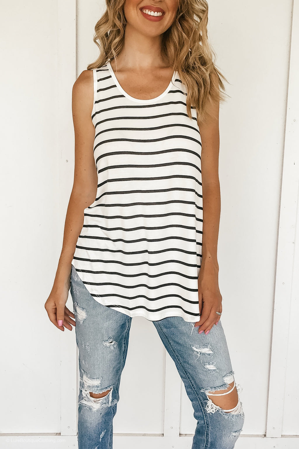 Savanna Striped Tunic Tank - LURE Boutique