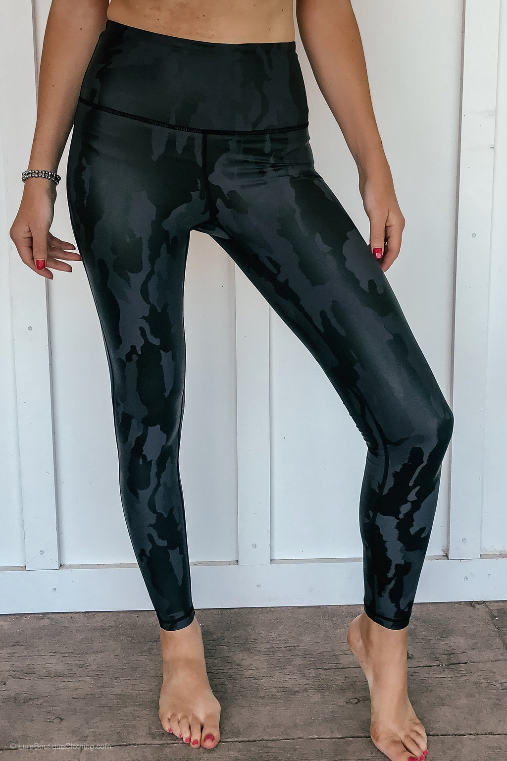 Black Camo Leggings - LURE Boutique