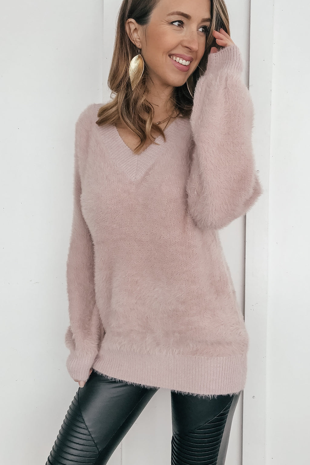 Anything Goes Fuzzy Knit Sweater - LURE Boutique