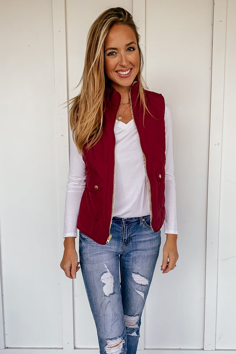 Quilted Reversible Vest - LURE Boutique