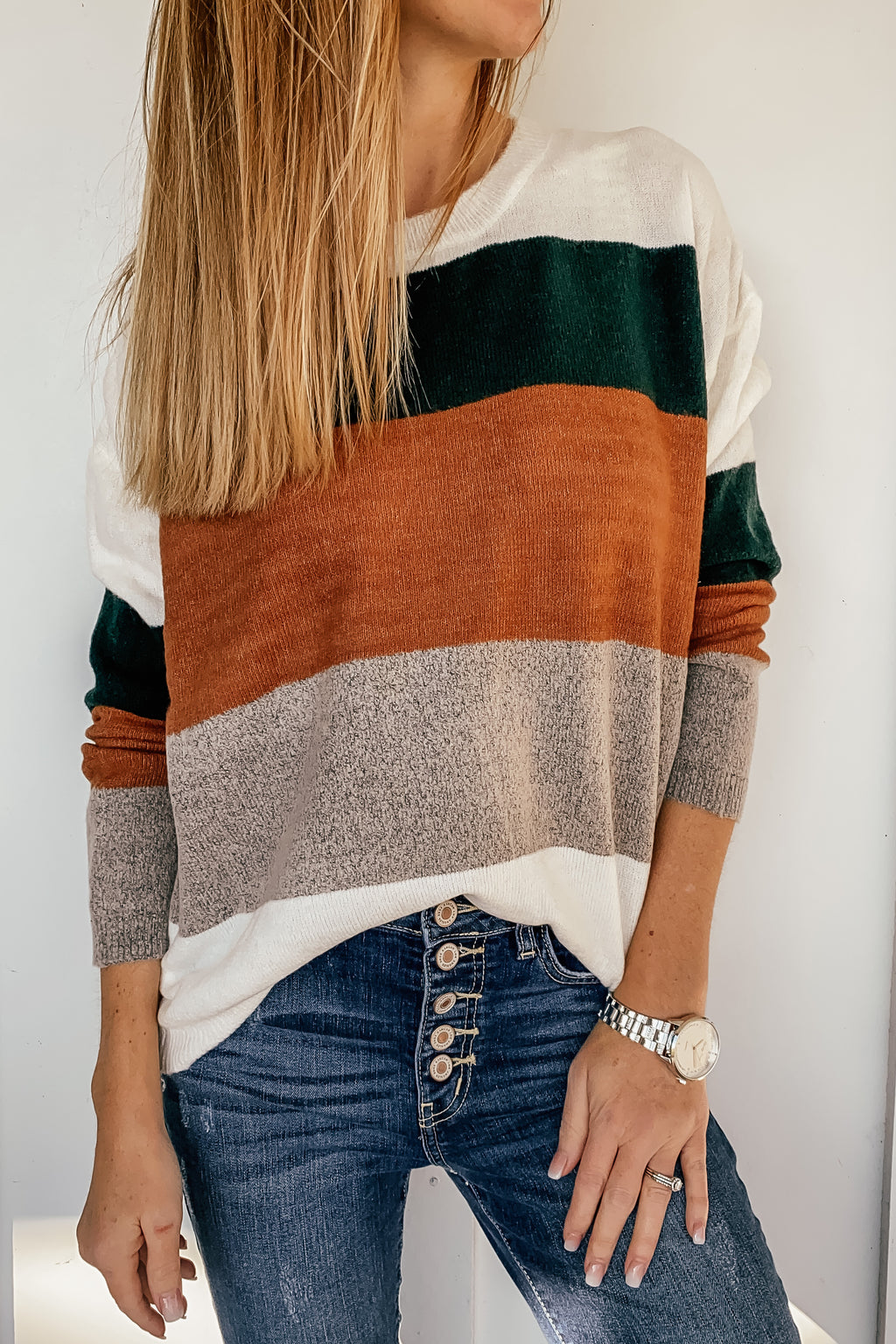 Winter Solstice Colorblock Sweater