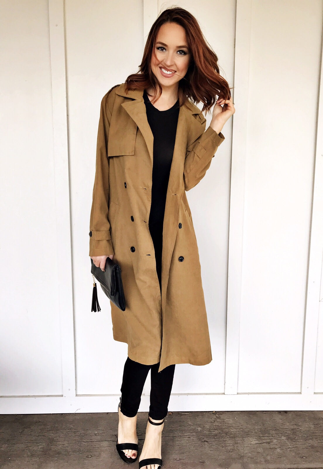 Lightweight Camel Trench Coat