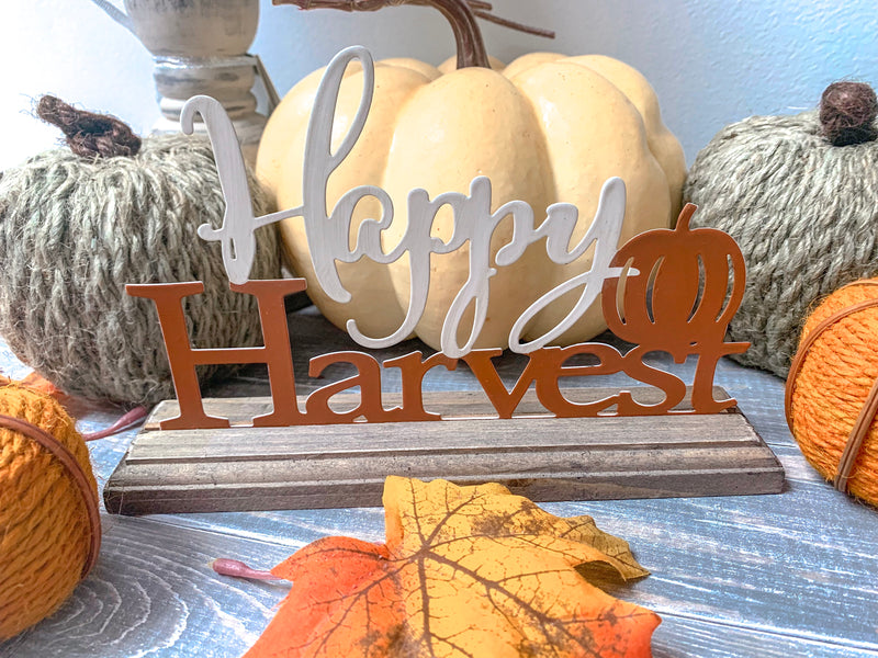 Happy Harvest Tabletop Sign - LURE Boutique