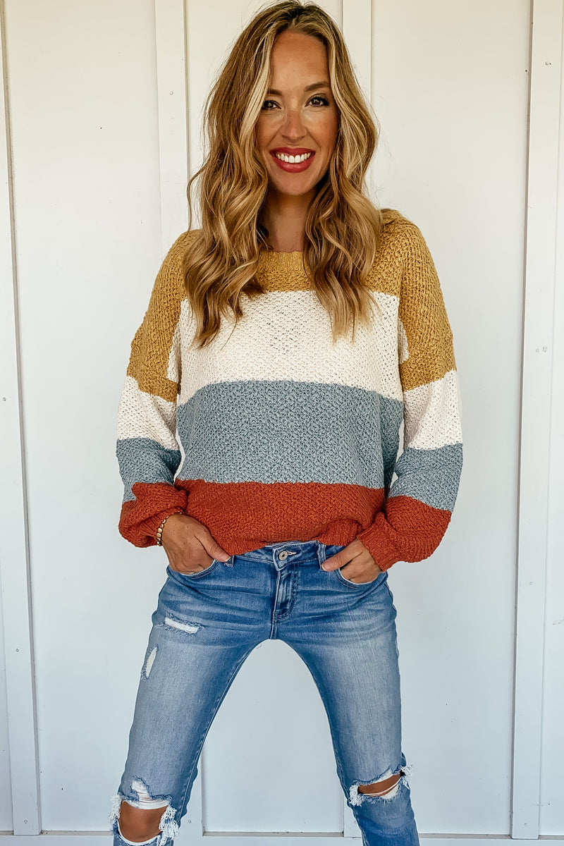 Addison Striped Pullover Sweater
