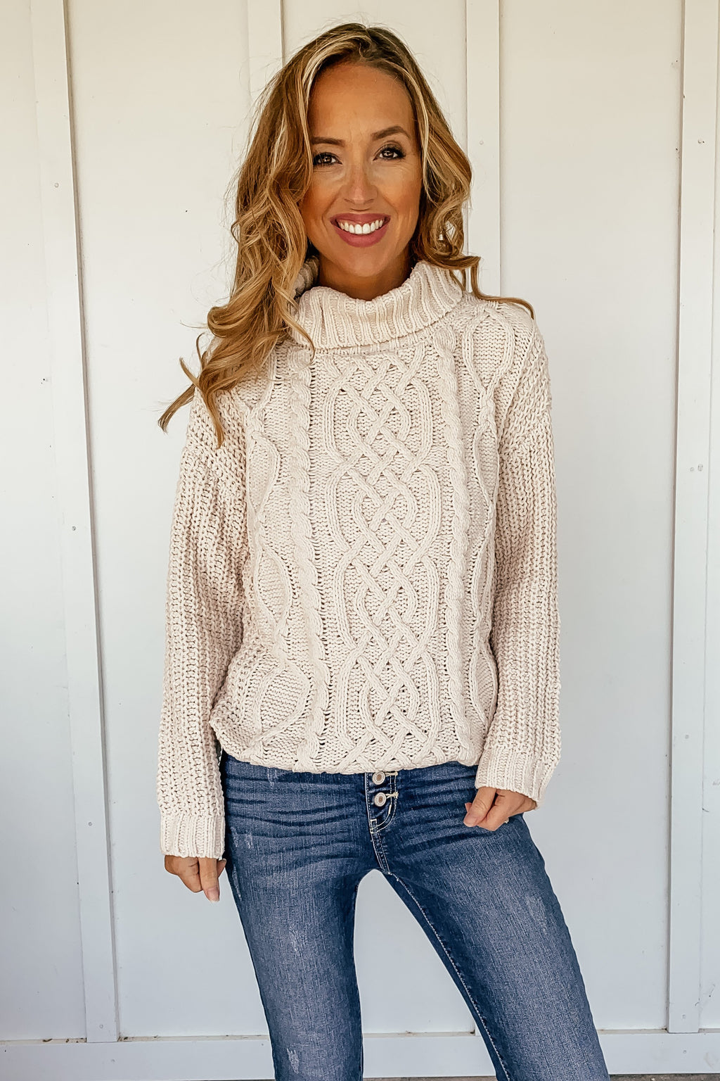 Butter Chenille Turtleneck Sweater - LURE Boutique