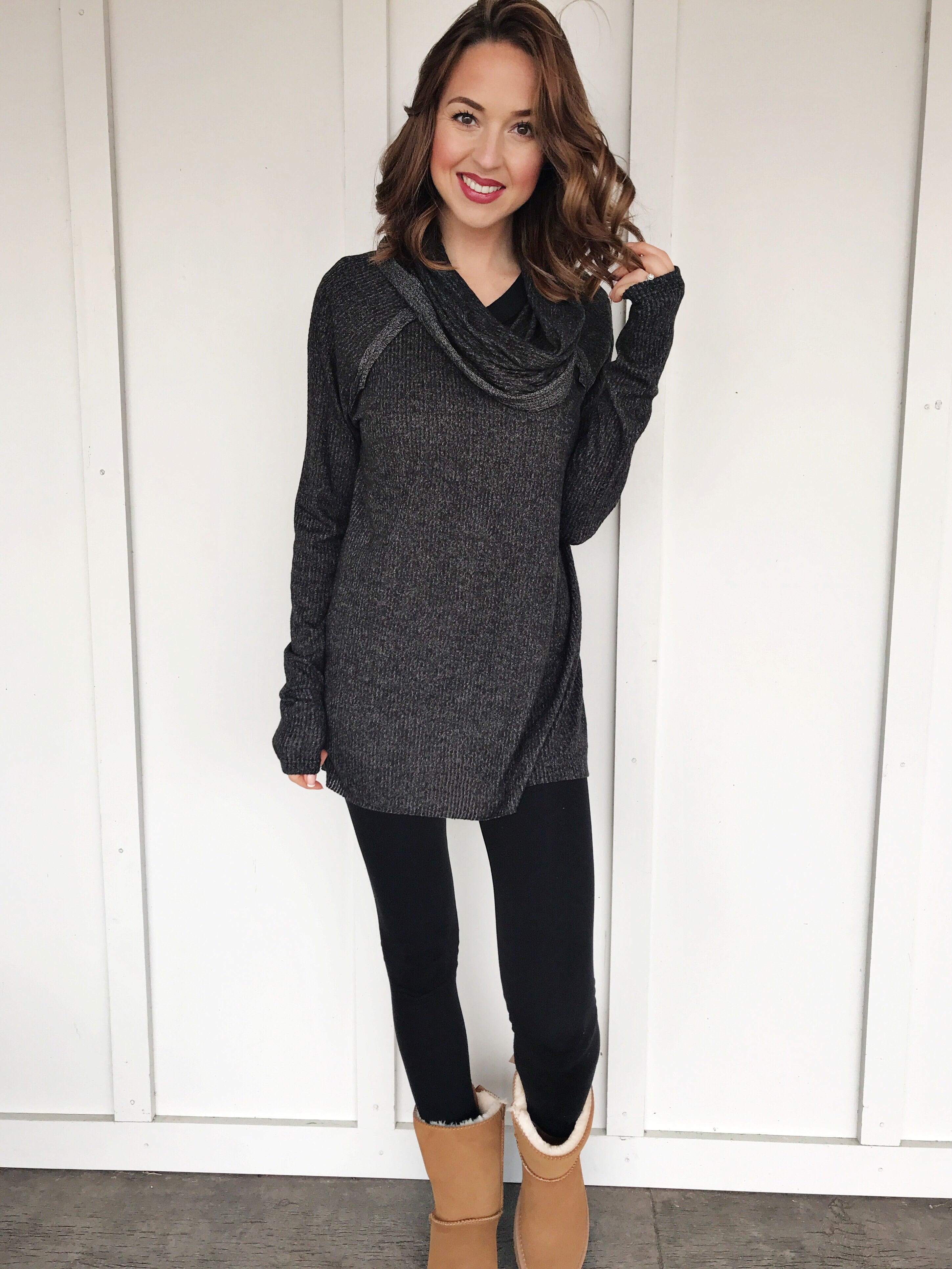 Head Over Heels Cowl Neck Sweater