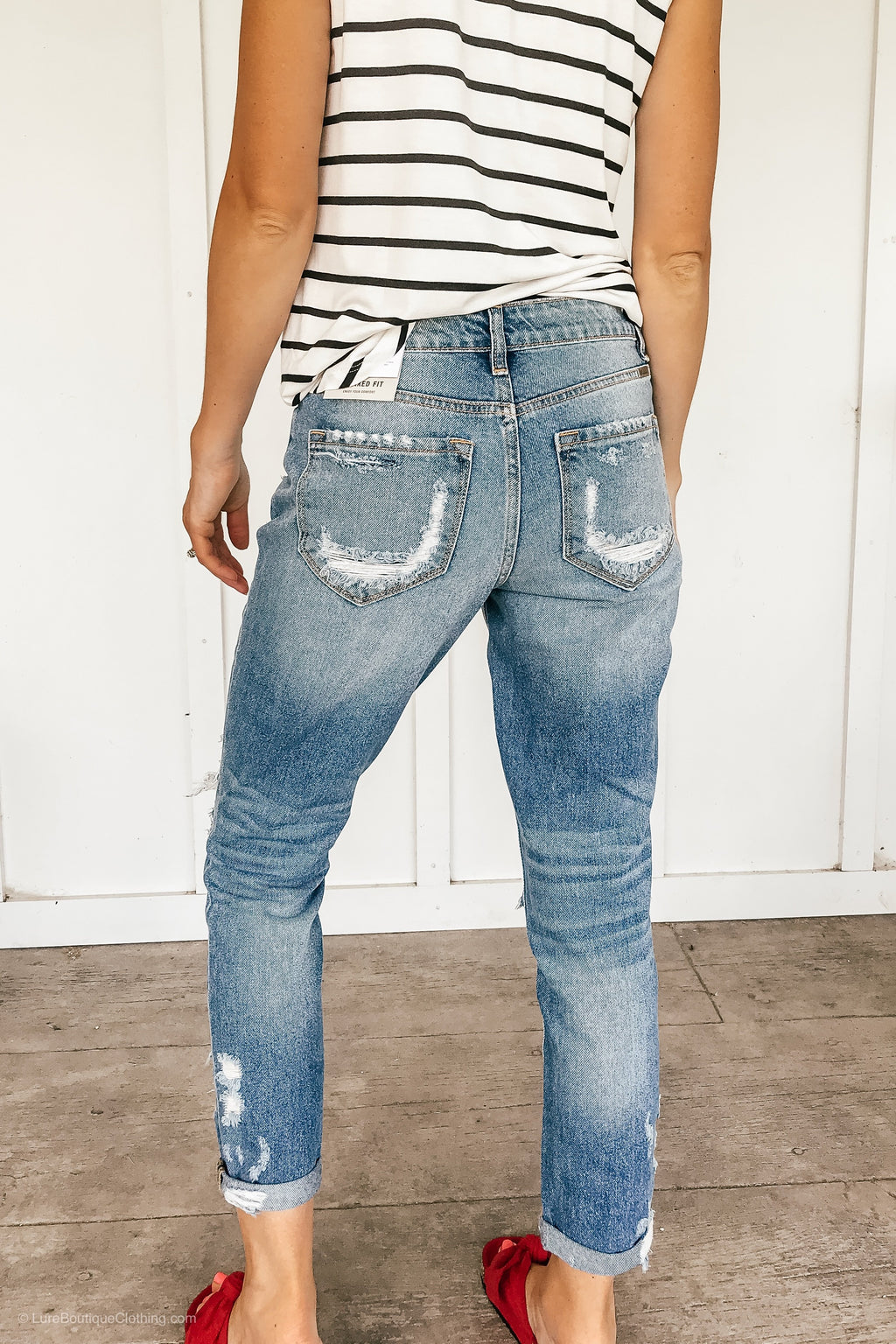 Girlfriend Distressed Kancan Jeans - LURE Boutique