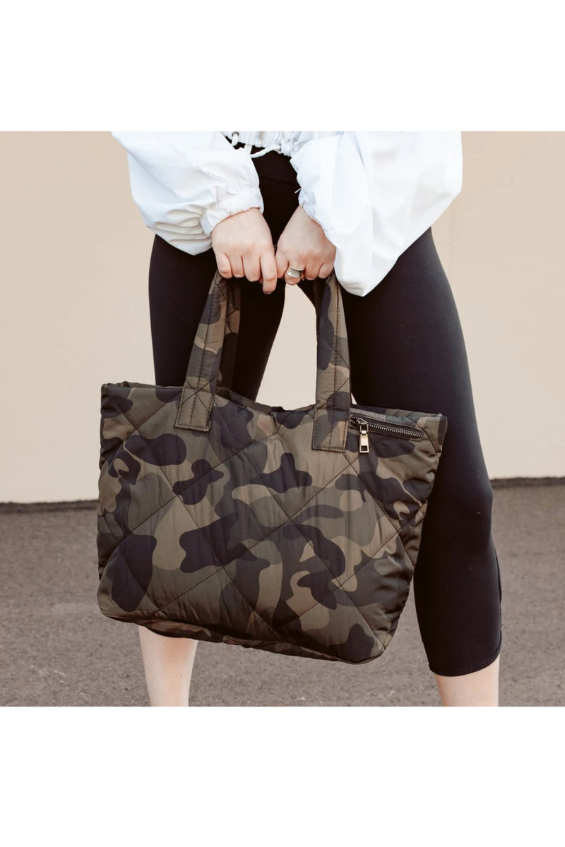 Quilted Camo Tote