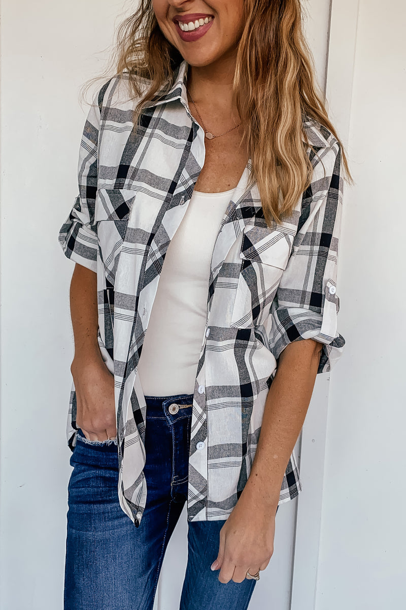 Favorite Plaid Button Up