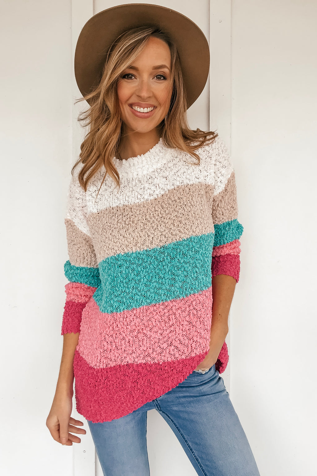 The Madison Color Block Sweater