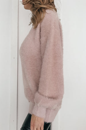 Anything Goes Fuzzy Knit Sweater