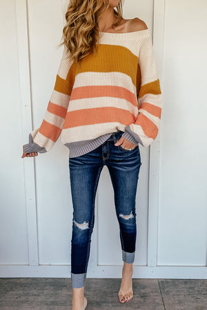 The Madeline Striped Pullover Sweater