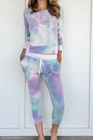 Tie Dye Lounge Set in Mint