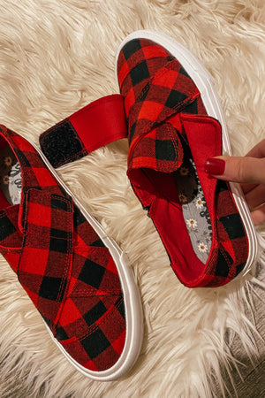 Buffalo Plaid Along Sneakers