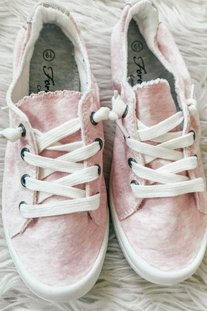 Keeping It Casual Sneakers in Pink