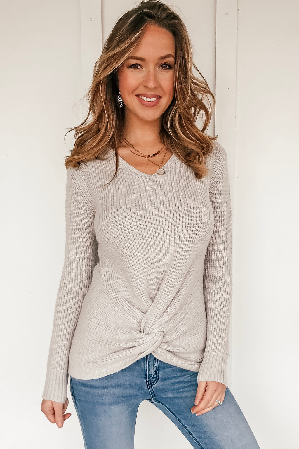Twisted In Love Knot Sweater