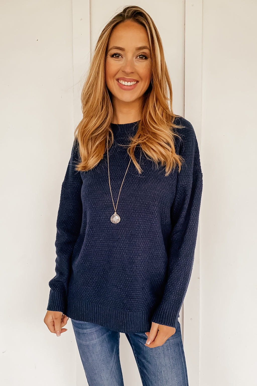 The Simple Shelby Sweater in Navy