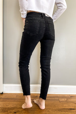 Judy Blue Distressed Leopard Black Denim (Also in PLUS)