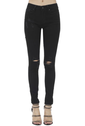 Distressed Black KanCans - LURE Boutique