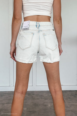 High Rise Acid Washed KanCan Shorts - LURE Boutique