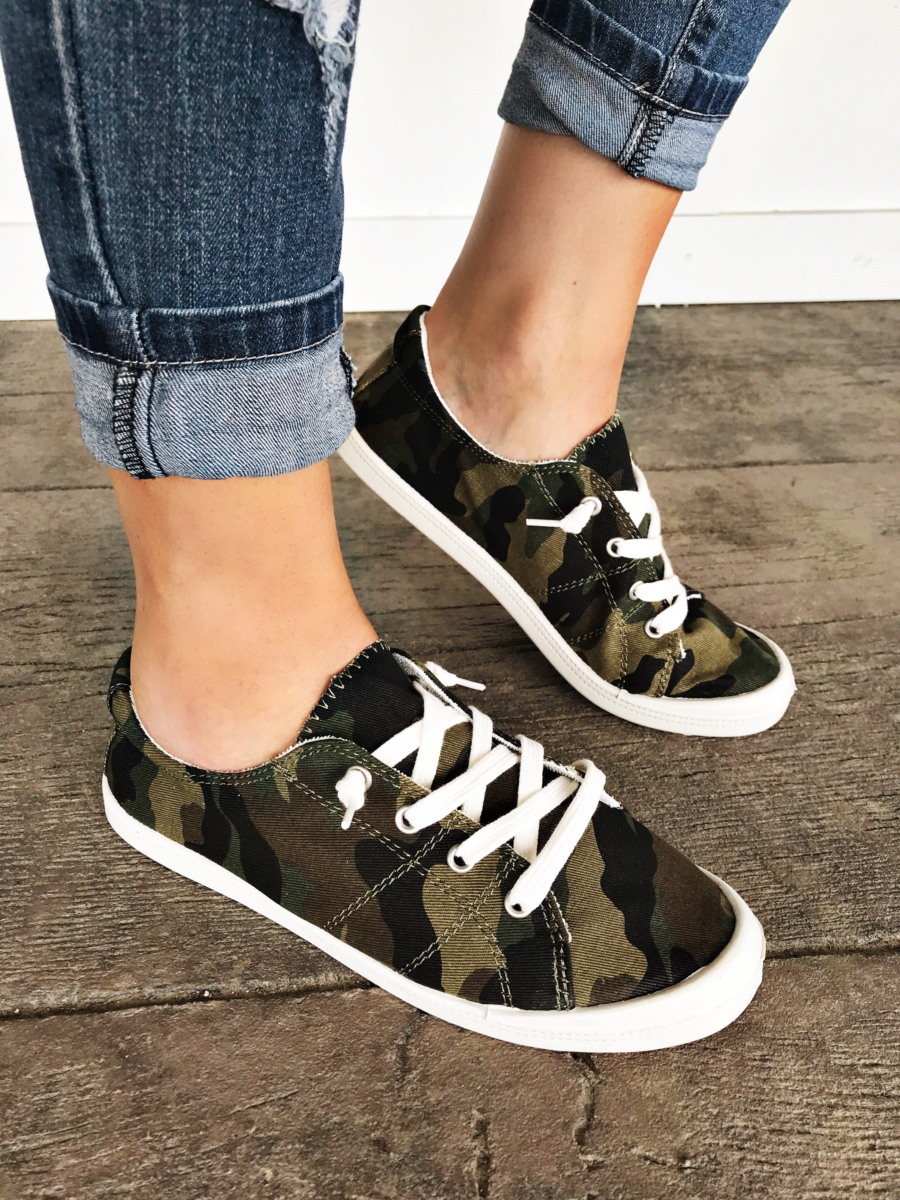 Keeping It Casual Sneakers in Camo