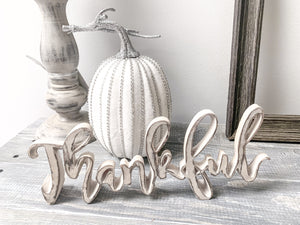 "9"" Jeweled White and Silver Glittered Pumpkin - LURE Boutique"