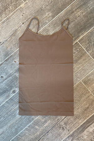 The Seamless Tank in New Mocha - LURE Boutique