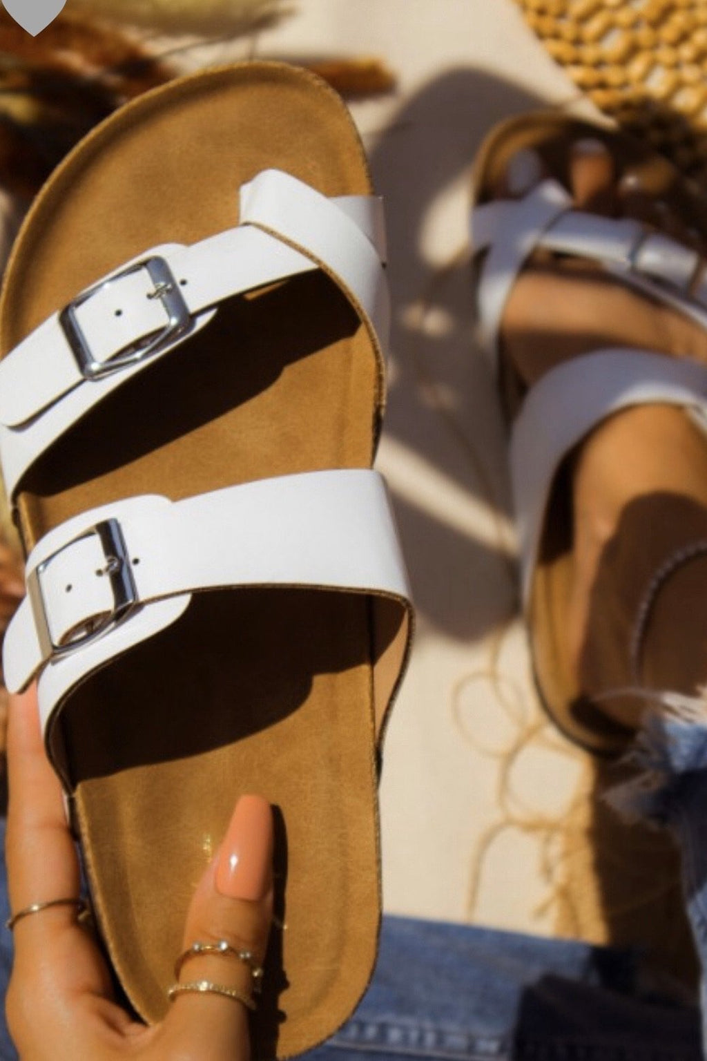 White Toe Wrap Sandals