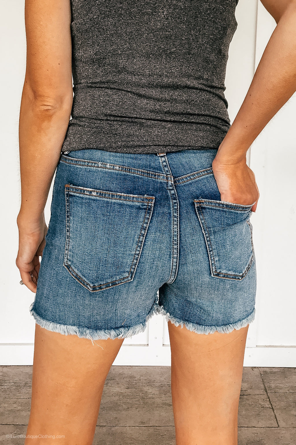 High Rise Distressed Cut Off Shorts