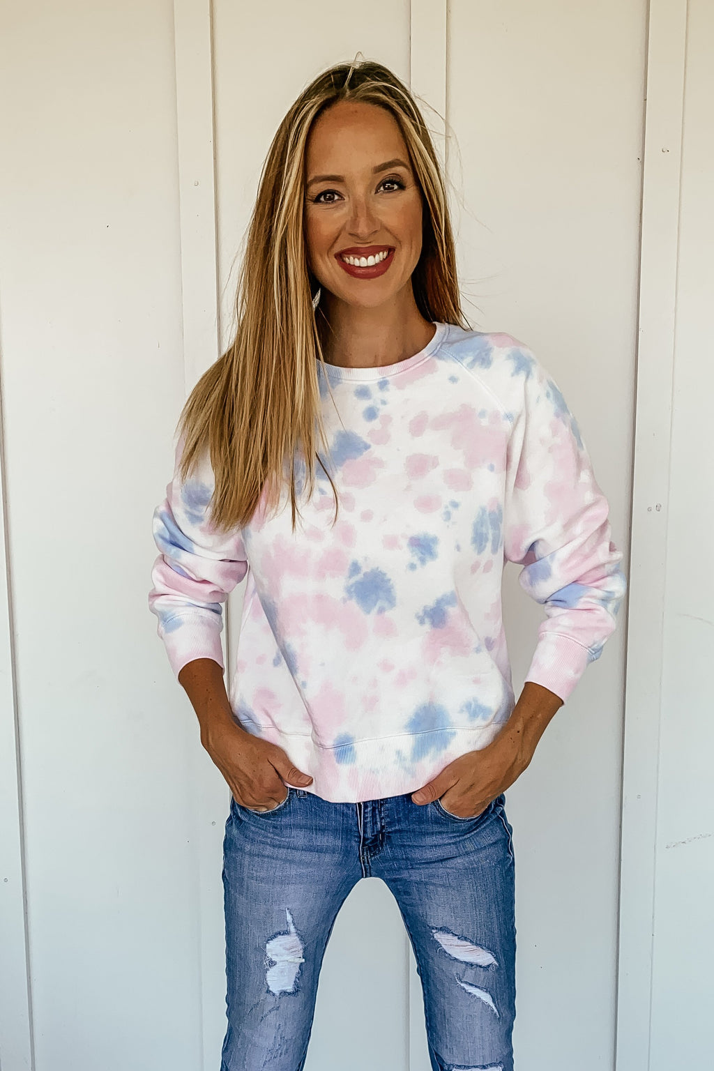 Cotton Candy Tie Dye Sweatshirt - LURE Boutique