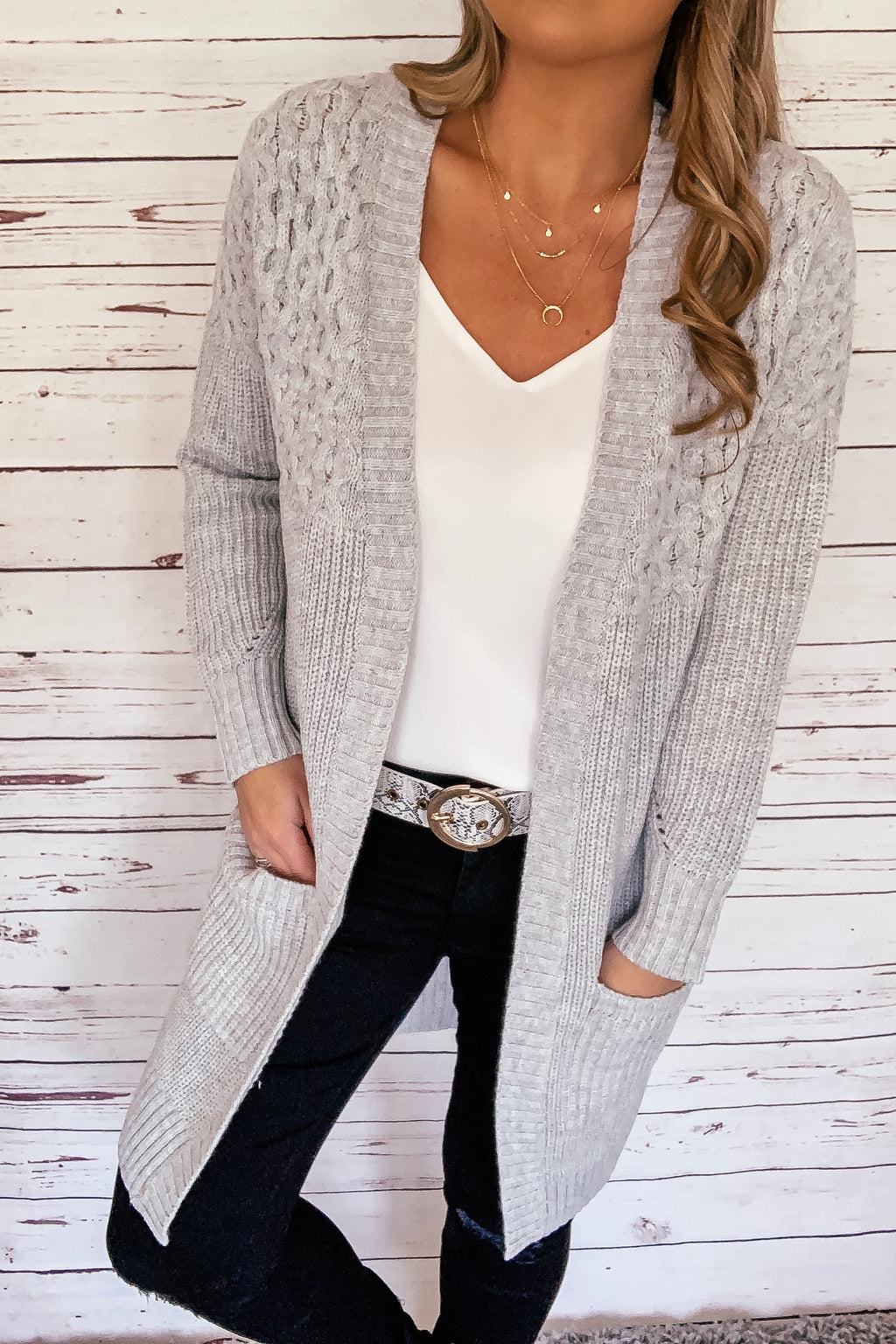 Kim Cable Knit Cardigan