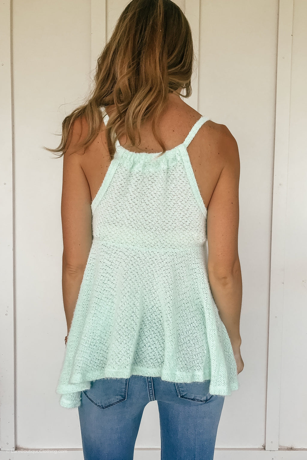 Flirty Flared Cami Top in Mint - LURE Boutique